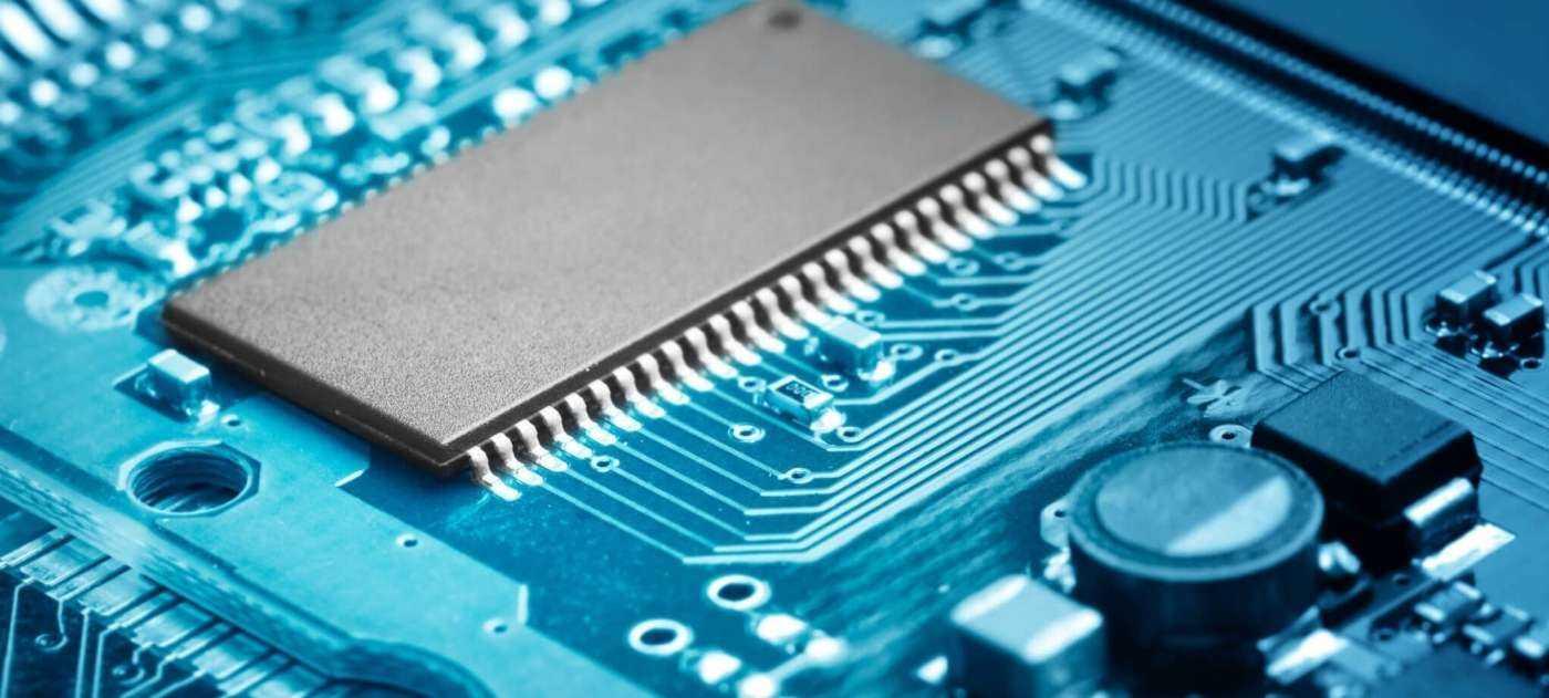 ROM-Chip auf Systemplatine