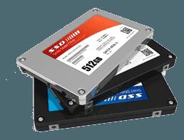 Datenrettung von Festplatten und SSDs.